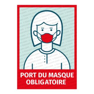 AFFICHE A4- PORT DU MASQUE OBLIGATOIRE - Terre des Bourbons