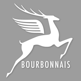 autocollant cerf bleu autocollants bourbonnais Cerf Blanc sur vinyle transparent