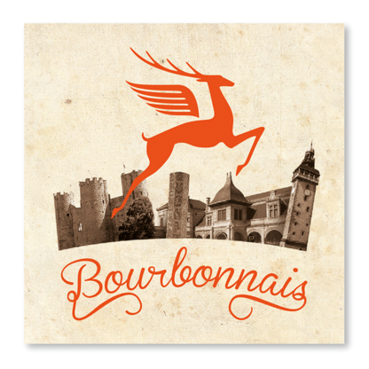 carte bourbonnais cerf orange