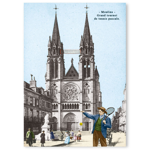 Carte postale n°100 papier cartonné tennis