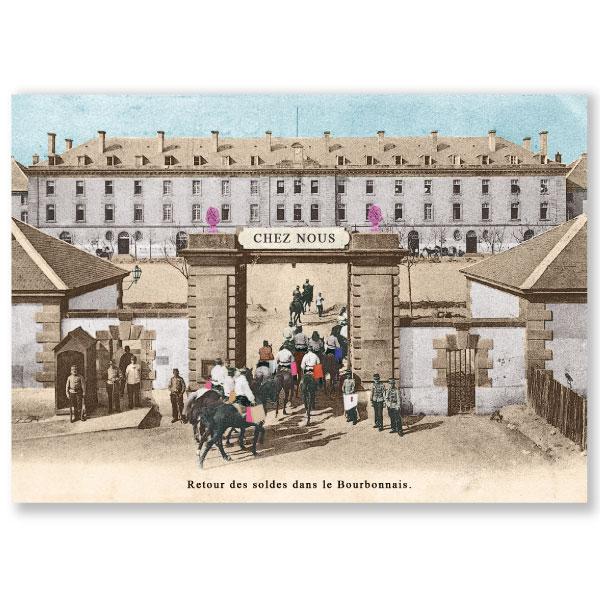 Carte postale n°101 sur papier cartonné soldes