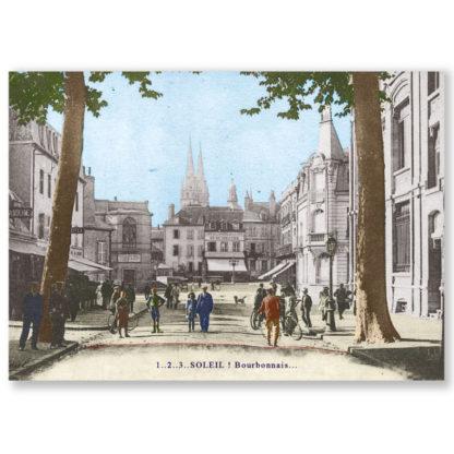 Carte postale n°104 sur papier cartonné soleil