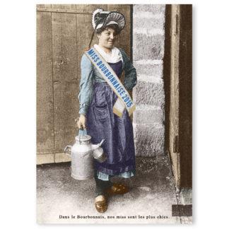 Carte postale n°105 sur papier cartonné miss