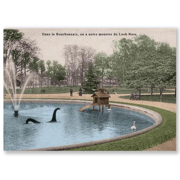 Carte postale n°108 sur papier cartonné monstre