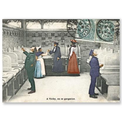 Carte postale n°98 sur papier cartonné A Vichy