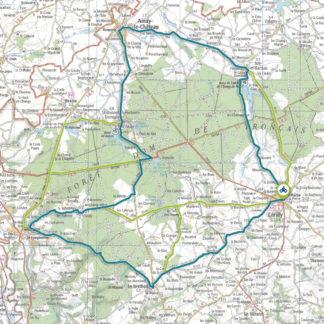 Tracé GPS du circuit 1 Forêt de Tronçais