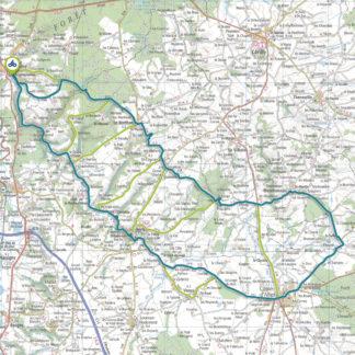 Tracé GPS du circuit 2 : Au fil de l'Aumance