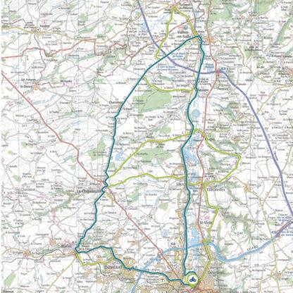 Tracé GPS du circuit 3 : Canal de Berry