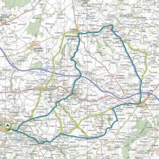 Tracé GPS du circuit 4 : Bassin de Commentry