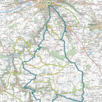 Tracé GPS du circuit 5 : Combraille