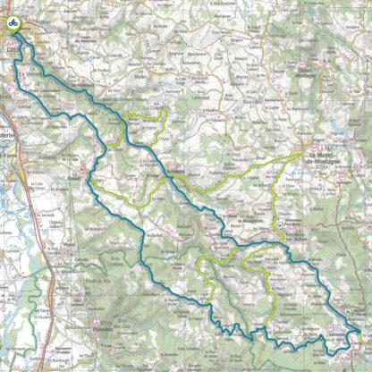 Tracé GPS du circuit 21 : Vallée du Sichon