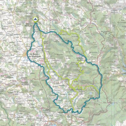 Tracé GPS du circuit 22 : Montagne bourbonnaise