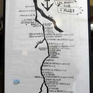 artshop imprimeries réunies Illustration d'Elza Lacotte traits noir ancre allier